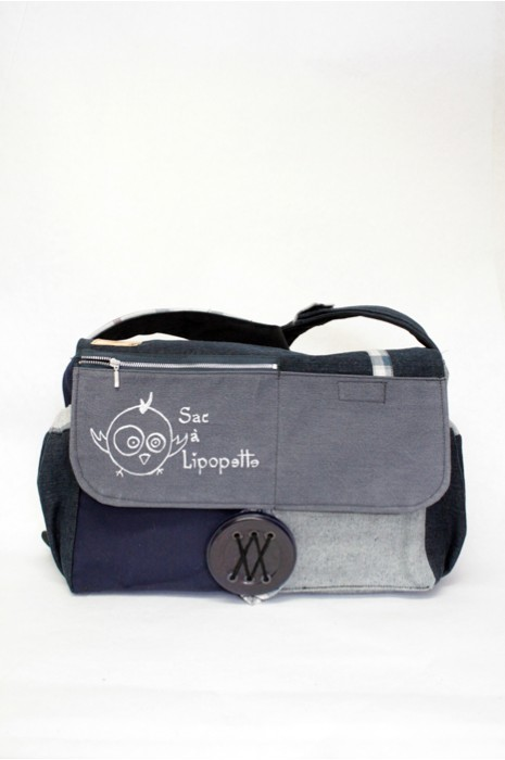 Diaper bag with changing pads and case