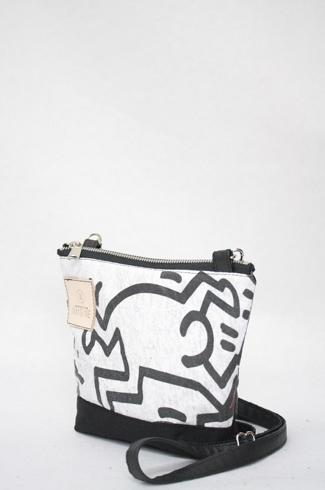 Mini Sac à Main en cuir Keith Haring