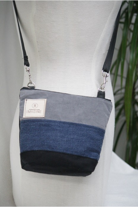 Mini Sac à Main bandoulière en denim / 06