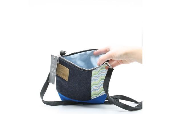 Petit sac à main bandoulière en jeans recyclé / M05
