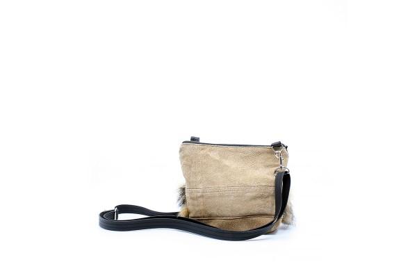 La Mini 07 - Petit sac à main léger en cuir et fourrure récupéré, pratique et tout-aller