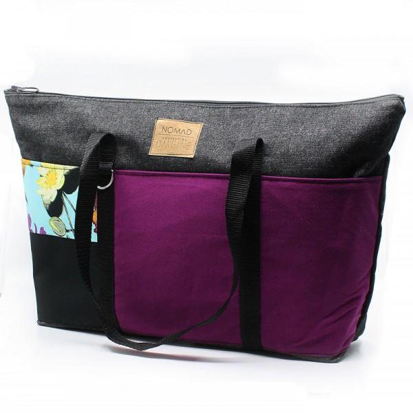 Grand sac fourre-tout avec fermeture éclair / NO04