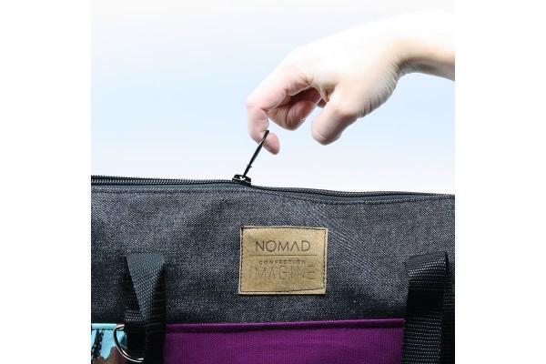 Nomad | Grand sac violet et noir pour la plage