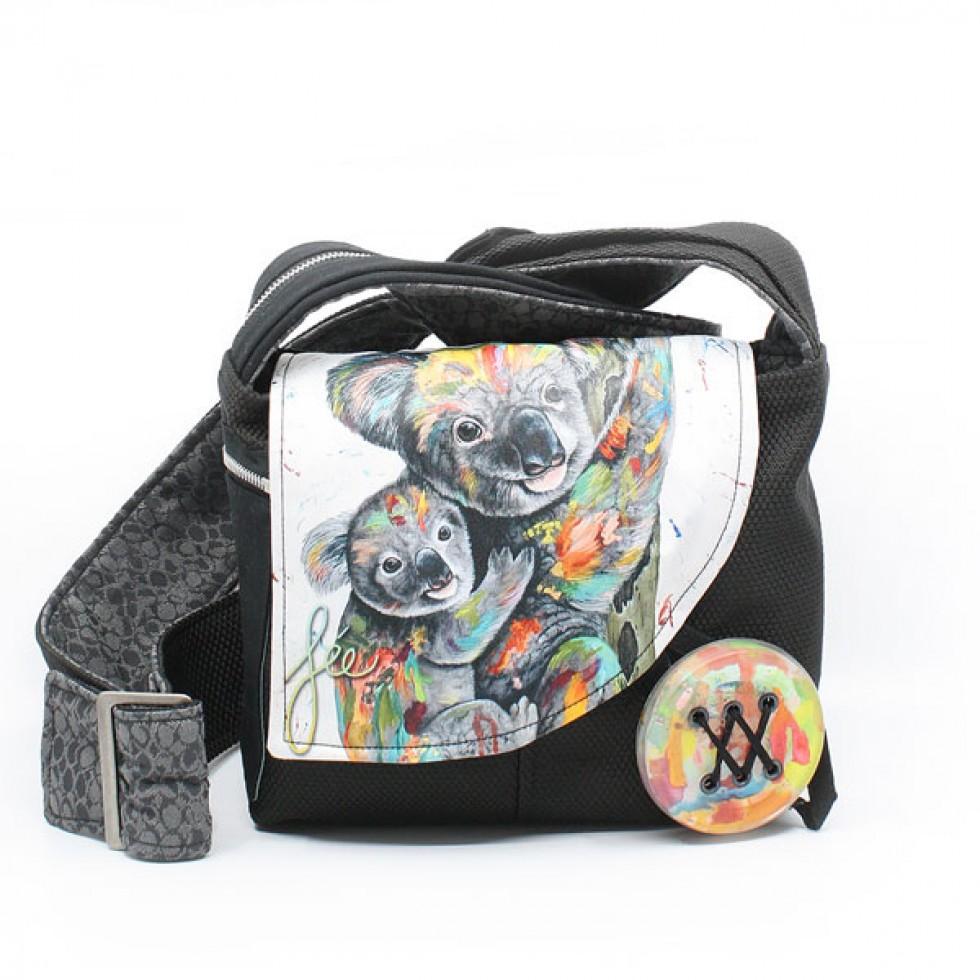 Chipie | Sac à bandoulière coloré avec koalas sur le devant
