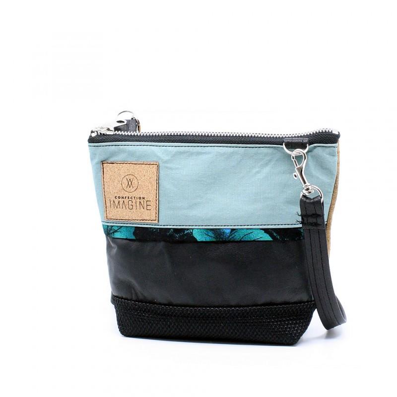 La Mini 23 - Petit sac à main léger en cuir et denim récupéré, pratique et tout-aller