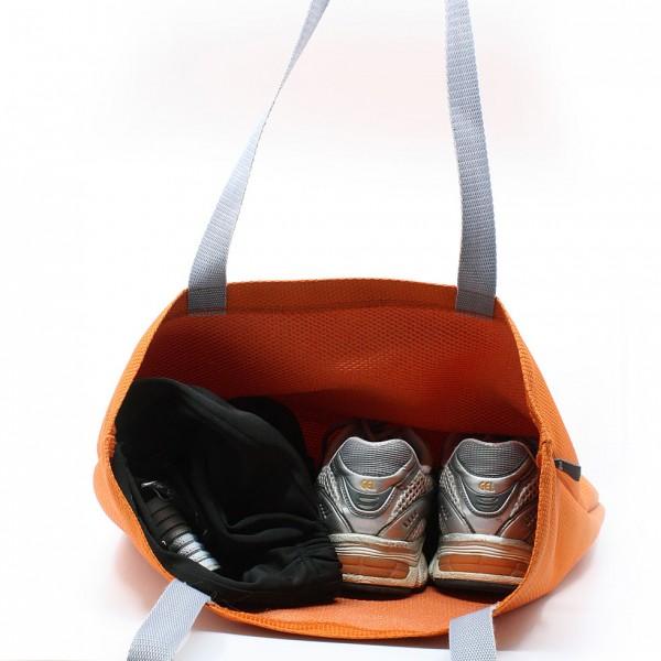 Sac Réutilisable | Fourre-tout orange idéal pour le magasinage