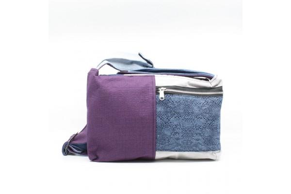 Bouton et Bourse Cousue | Sac à bandoulière en jeans à motif bleu