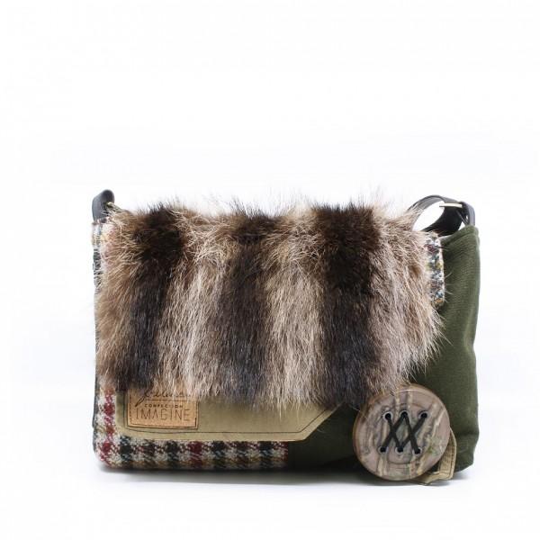 Frileuse | Magnifique sac à bandoulière avec textile récupéré