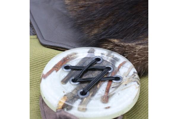 Frileuse | Superbe bourse à bandoulière avec fourrure récupérée