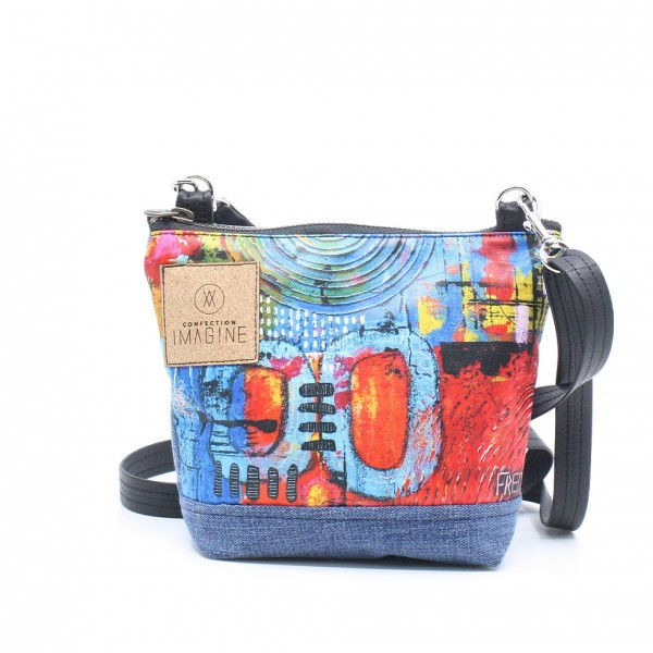 La Mini | Superbe petit sac confectionné à partir d'une œuvre de Fred Girard