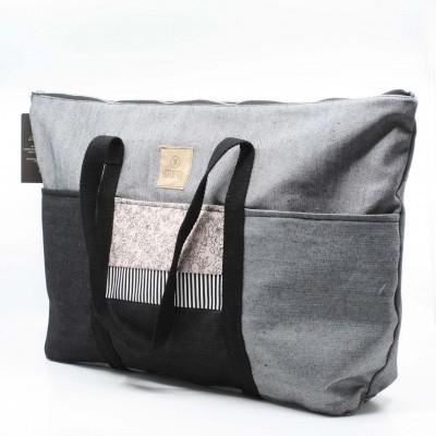 Grand sac fourre-tout avec fermeture éclair / NO03