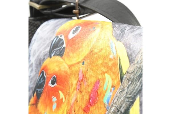Chipie Édition Spéciale QuARTz   Sac à bandoulière avec peinture de perroquets