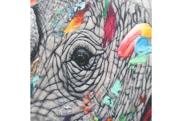 Chipie Édition Spéciale QuARTz | Sac fabriqué à la main avec oeuvre de rhinoceros