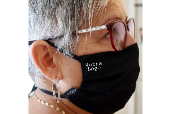 Personnalisation de masque couvre visage s'attache derrière les oreilles ou derrière la tête