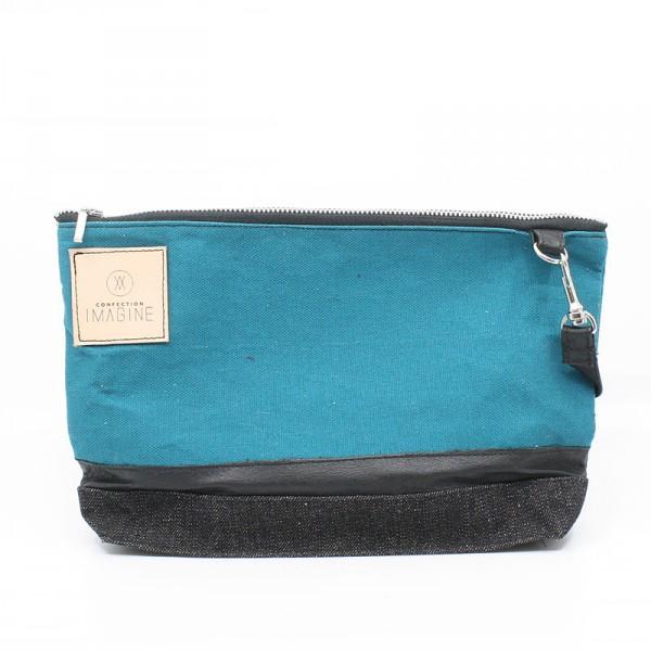 ElleAime | Petit sac à main vert turquoise et noir