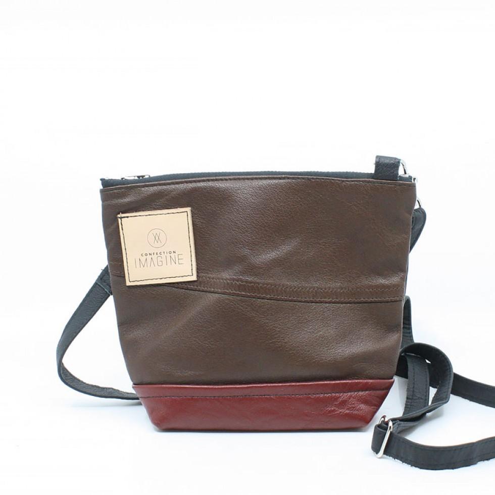 La Mini | Petit sac à main en cuir brun