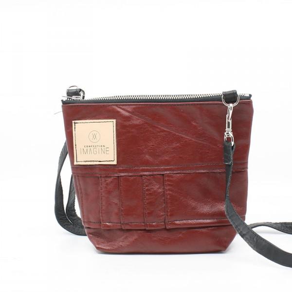 La Mini   Petit sac à main en cuir rouge