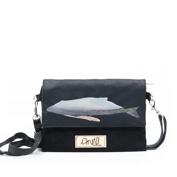 Sac à main / Sac à la taille / Sac bandoulière collabo avec Anctil Artiste / Baleine Fleuve